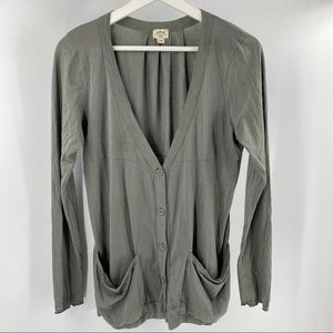 Aritzia Wilfred Prima cotton cardigan sage green